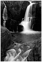 Pigeon Falls, Grand Portage State Park. Minnesota, USA ( black and white)
