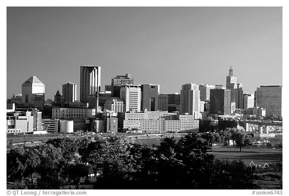 Saint Paul skyline, early morning. Minnesota, USA