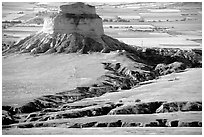 View from Scotts Bluff. Scotts Bluff National Monument. Nebraska, USA ( black and white)