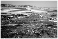 Plains seen from Scotts Bluff. Scotts Bluff National Monument. Nebraska, USA (black and white)