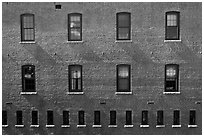 Brick building facade. Concord, New Hampshire, USA (black and white)