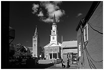 Churches. Concord, New Hampshire, USA ( black and white)
