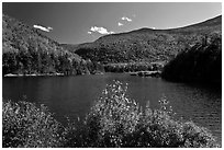 Beaver Pond and Kinsman Notch, White Mountain National Forest. New Hampshire, USA ( black and white)