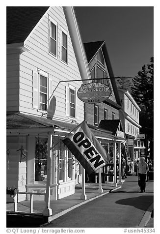 Stores, North Woodstock. New Hampshire, USA (black and white)