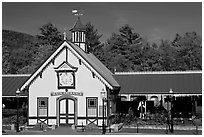 Historic train station. New Hampshire, USA (black and white)
