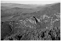 View from Cannon Mountain, White Mountain National Forest. New Hampshire, USA ( black and white)