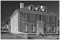 Wentworth-Gardner House 1760 in Georgian style. Portsmouth, New Hampshire, USA ( black and white)