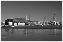 Portsmouth Naval Shipyard. Portsmouth, New Hampshire, USA ( black and white)