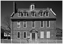 Georgian-style Warner House. Portsmouth, New Hampshire, USA ( black and white)