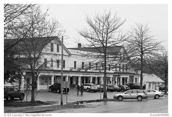 Commercial center. Walpole, New Hampshire, USA (black and white)