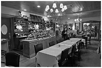 Restaurant interior. Walpole, New Hampshire, USA ( black and white)