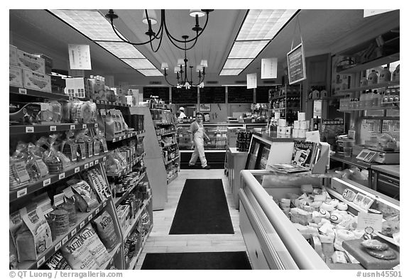 Black and white picture photo grocery store interior walpole new hampshire usa
