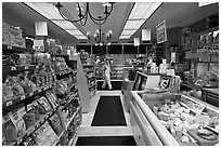 Grocery store interior. Walpole, New Hampshire, USA (black and white)
