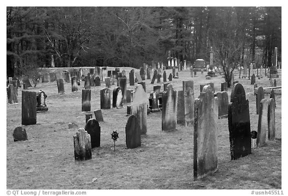 Old Slate headstones. Walpole, New Hampshire, USA