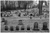 Cemetery. Walpole, New Hampshire, USA ( black and white)