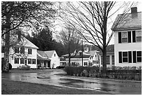 Houses. Walpole, New Hampshire, USA ( black and white)