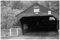 Covered bridge, Bath. New Hampshire, USA (black and white)
