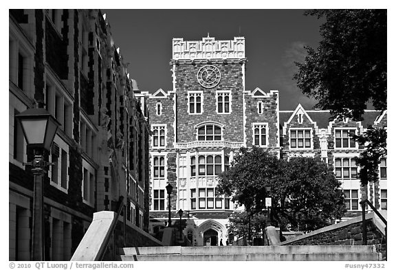 City College, CUNY. NYC, New York, USA (black and white)