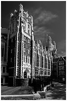 Shepard Hall, the City University of New York. NYC, New York, USA (black and white)