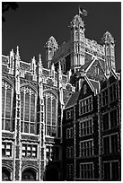 Shepard Hall tower, CUNY. NYC, New York, USA (black and white)