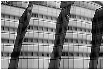 Facade detail, IAC building. NYC, New York, USA ( black and white)
