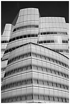 Frank Gehry designed IAC building. NYC, New York, USA ( black and white)