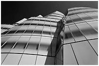 IAC building, afternoon. NYC, New York, USA (black and white)