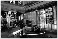 Newsroom, Bloomberg building. NYC, New York, USA ( black and white)