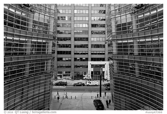 One Beacon Court courtyard from building. NYC, New York, USA