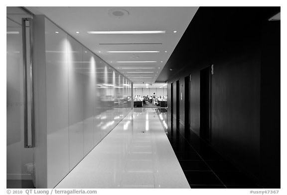 Corridor, Bloomberg Tower. NYC, New York, USA
