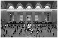 Grand Central Station interior. NYC, New York, USA ( black and white)