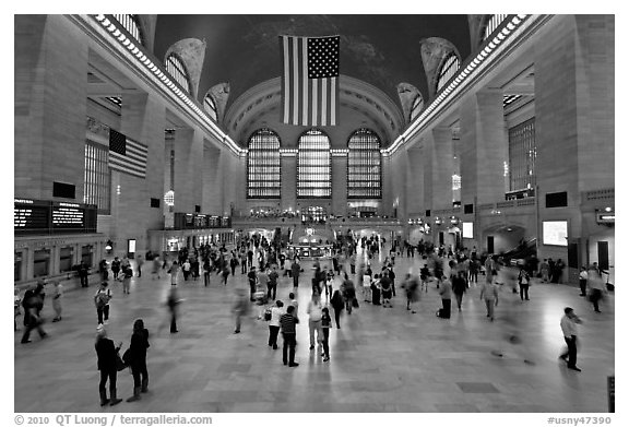 Grand Central Terminal  NYC  New York  USA  black and whiteGrand Central Station Clock Black And White