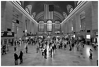 Main Concourse, Grand Central Terminal. NYC, New York, USA (black and white)
