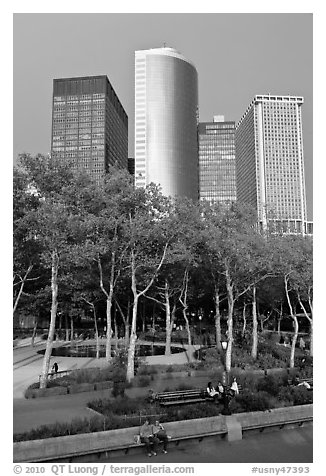 Battery Park, Lower Manhattan. NYC, New York, USA (black and white)