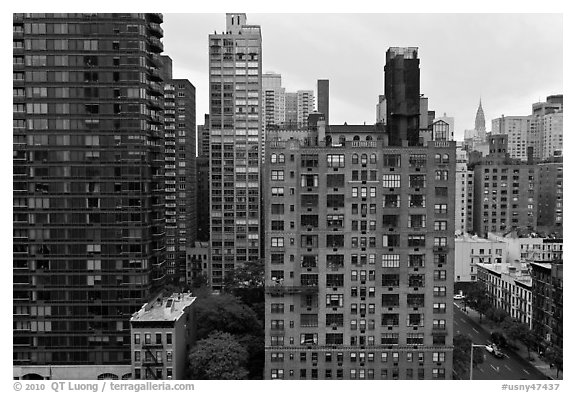 High rise buildings, Manhattan. NYC, New York, USA (black and white)