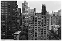 High rise buildings, Manhattan. NYC, New York, USA ( black and white)