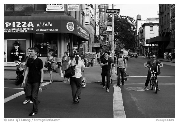 SoHo district. NYC, New York, USA (black and white)