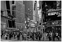Times Squares area. NYC, New York, USA ( black and white)
