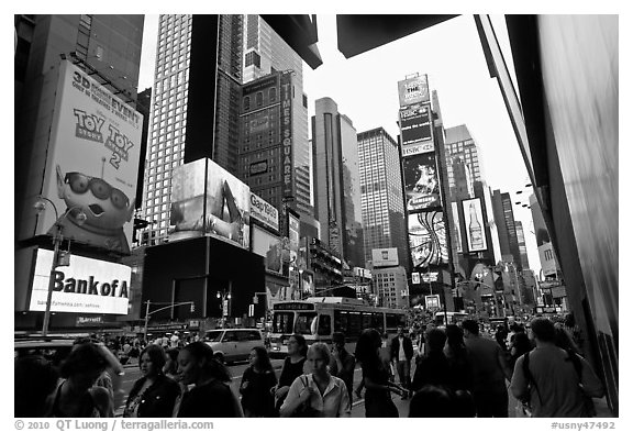 Times Squares. NYC, New York, USA (black and white)