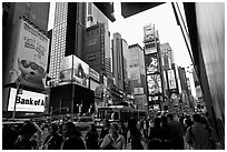 Times Squares. NYC, New York, USA ( black and white)