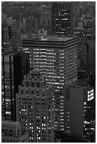 Office towers at dusk. NYC, New York, USA ( black and white)