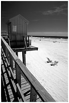 Atlantic beach, Long Beach. Long Island, New York, USA (black and white)