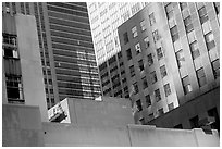 Mix of facades. NYC, New York, USA (black and white)