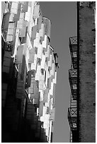 Shutters on a facade. NYC, New York, USA (black and white)