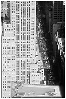Fifth Avenue seen from the Empire State building. NYC, New York, USA ( black and white)