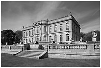The Elms, mansion in classical revival style. Newport, Rhode Island, USA ( black and white)