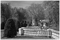 Grounds of The Elms. Newport, Rhode Island, USA ( black and white)