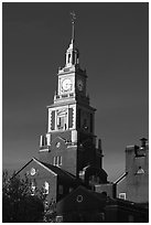 Church. Providence, Rhode Island, USA ( black and white)