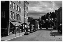Main street, Deadwood. Black Hills, South Dakota, USA ( black and white)