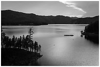 Pactola Reservoir, Rapid Valley. Black Hills, South Dakota, USA ( black and white)